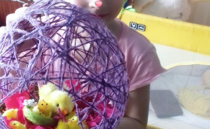 """""""Šogad Lieldienas mājās"""" pirmsskolas vecuma bērnu radošie darbi"""